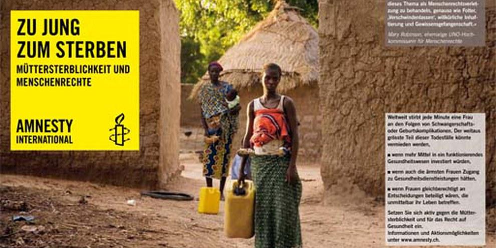 Ausstellung «Müttersterblichkeit und Menschenrechte in Burkina Faso» © Anna Kari