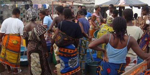 Intern Vertriebene in Guiglo im Westen der Elfenbeinküste. © AI
