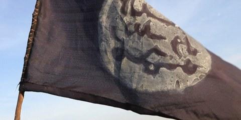 «Erschreckendes Ausmass der Gewalt». Boko-Haram-Flagge in der von Regierungstruppen zurückeroberten Stadt Gamboru  © AFP/Getty Images