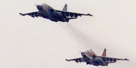 Russische Suchoi-Kampfflugzeuge, die von Weissrussland an den Sudan geliefert worden und auch bei der Bombardierung ziviler Ziele in Süd-Kordofan zum Einsatz gekommen sind ©APGraphicsBank