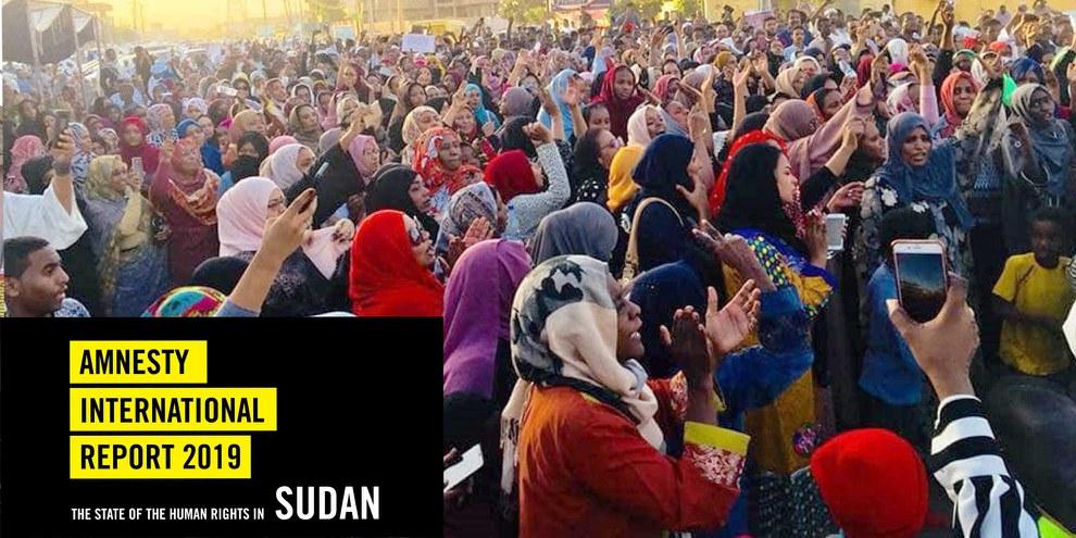 Trotz der massiven Gewalt gegen Demonstrierende gingen sudanesische Frauen zu Tausenden auf die Strasse.  ©  private