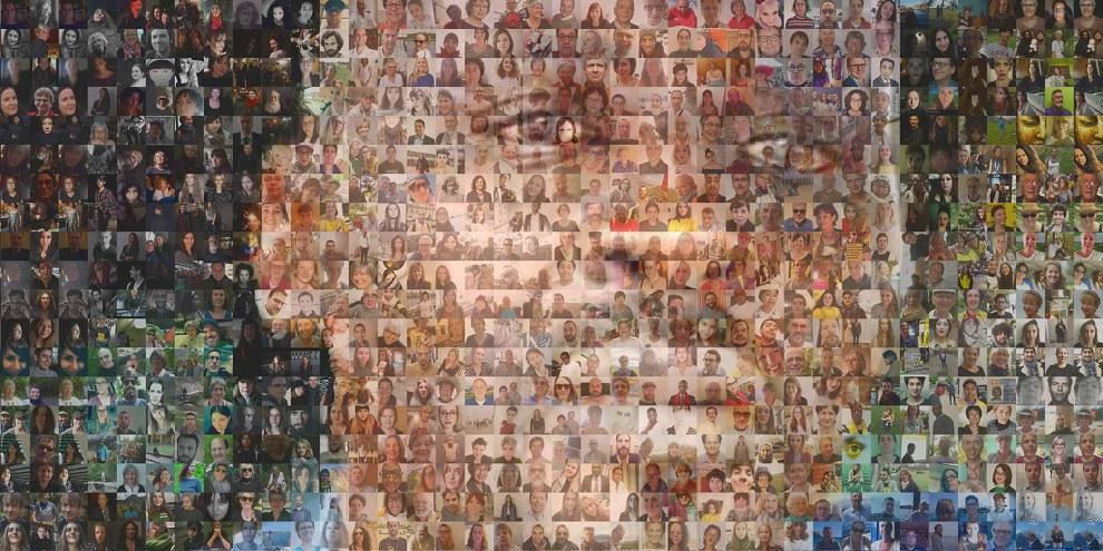 Foto-Mosaik für den Blogger Mahadine im Tschad. © AI