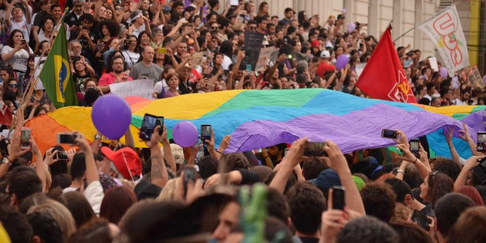 Massendemonstrationen, wie hier von Frauenorganisationen, haben die Wahl Bolsonaros nicht verhindern können. © shutterstock.com