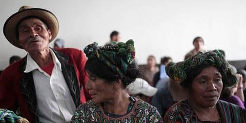 Angehörige von Opfern am Prozess gegen Rios Montt. © Reuters/J. Dan Lopez