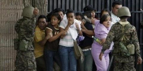 AnhängerInnen des gestürzten Präsidenten werden Opfer von Repressionen ©AP/PA Photo/Eduardo Verdugo