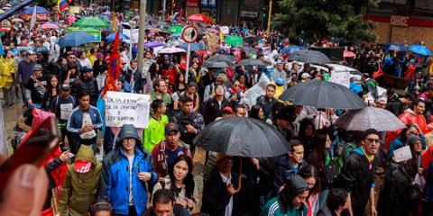 Dem Generalstreik in Kolumbien folgten Zehntausende. © GaboGPhoto / shutterstock.com