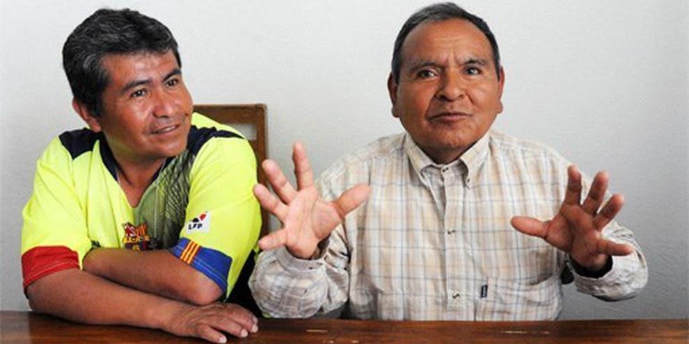 Pascual Agustín Cruz und José Ramón Aniceto Gómez sind wieder frei. © Ricardo Ramírez Arriola