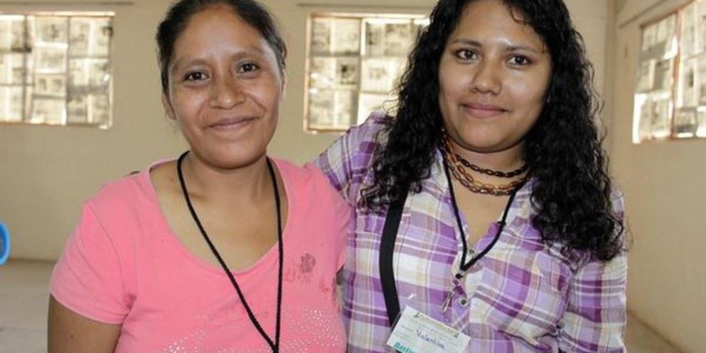 Ines Fernandez und  Valentina Cantu ©  Tlachinollan