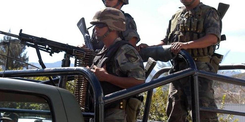 Mexikanische Soldaten im Bundesstaat Guerrero. © Alejandrino González