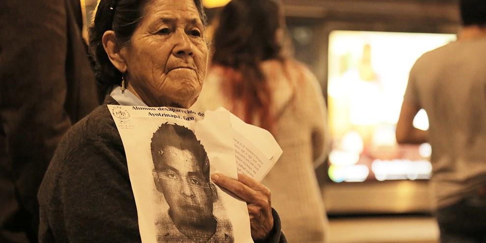 Demonstration für die verschwundenen Studenten in Mexiko, 22. Oktober 2014 © Alonso Garibay / Amnistía Internacional México