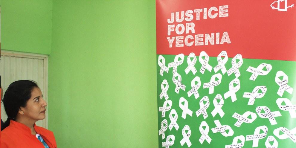 Yecenia Armenta im Gefängnis in Culiacán, Sinaloa, Januar 2016 © Amnesty International