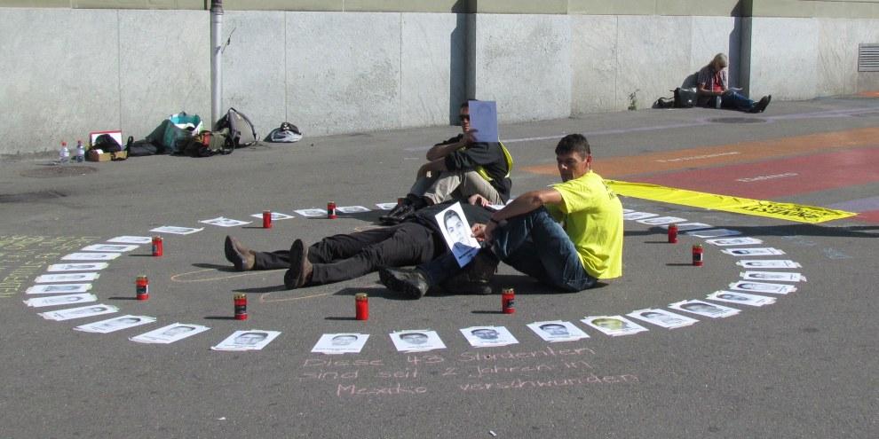 Amnesty-Aktion zum Gedenken an die verschwundenen Studenten von Ayotzinapa. Bern, 24. September 2016 © Amnesty International