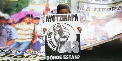 Wo sind die 43 Studenten? Demonstration in Mexiko-City. © Itzel Plascencia López / Amnesty International Mexico