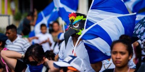 Seit 2018 protestieren in Nicaragua gegen die Regierung Ortega. Managua, 18. April 18, 2018. © Will Ulmos/shutterstock
