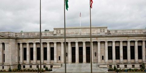Der Oberste Gerichtshof in Olympia, der Hauptstadt des Bundesstaates Washington im Nordwesten der USA. ©  mattesimages  / shutterstock.com