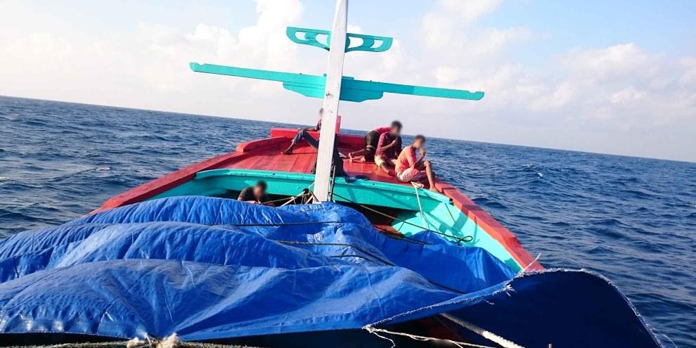 Asylsuchende auf einem Boot, kurz bevor dieses von der australischen Küstenwache aufgebracht und weggeschickt wurde. © Amnesty International