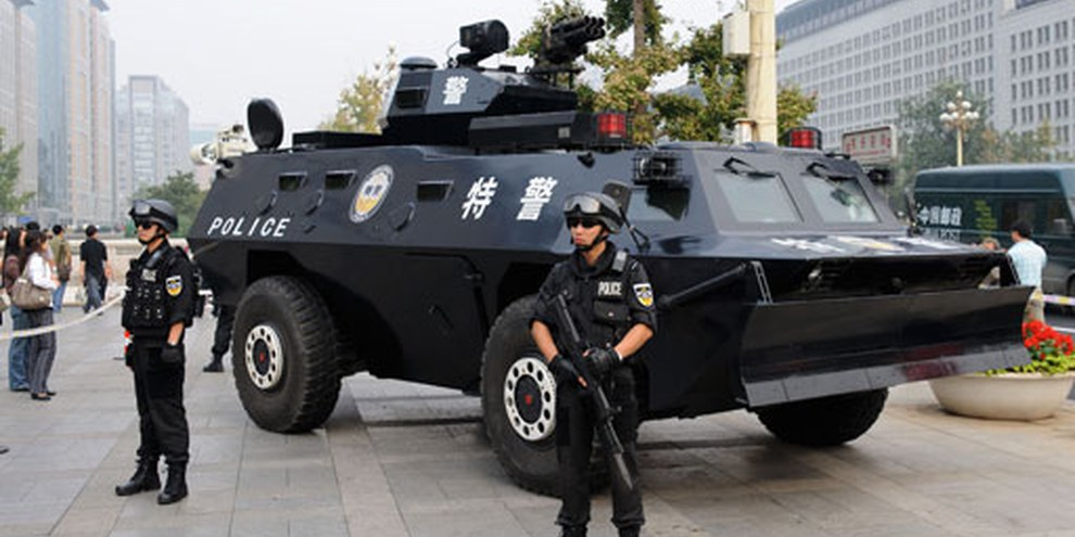 Polizisten auf dem Tiananmen-Platz (2009). © Demotix/Steve Barru