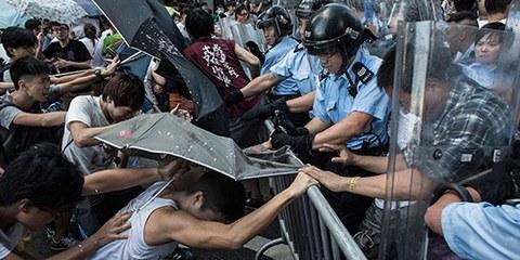 Die Polizei in Hongkong ist unverhältnismässig hart gegen Demonstrierende vorgegangen. © Getty Images