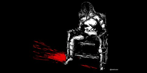 Illustration eines «Eisernen Stuhls» © Badiucao