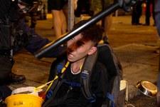 Polizei schiesst auf Demonstrierende