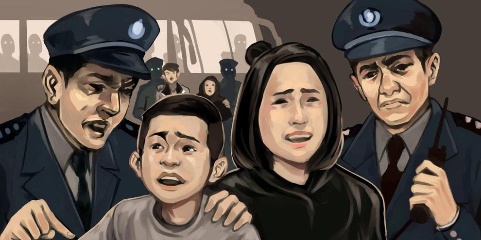 Wo sind die Kinder? Die Geschichte einer Familie, die auseinandergerissen wurden. (bei Klick aufs Bild öffnet sich die Galerie ). © Amnesty International