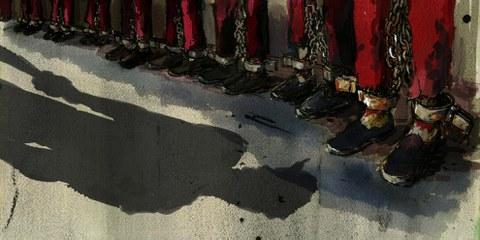 Es braucht eine unabhänige Untersuchung der Menschenrechtsverletzungen, die China in Xinjiang begeht. © Molly Crabapple