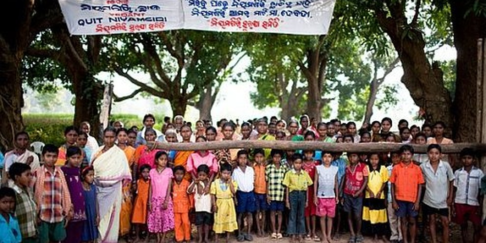 Die Bevölkerung wies darauf hin, dass die Schmelze die Wasser- und Luftverschmutzung weiter verschlimmern würde. © Sanjit Das