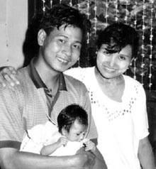Ma Khin Khin Leh mit Ehemann und Tochter © Privat