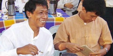 Unter den Freigelassenen ist auch der bekannte Aktivist Htay Kywe (links) © Privat
