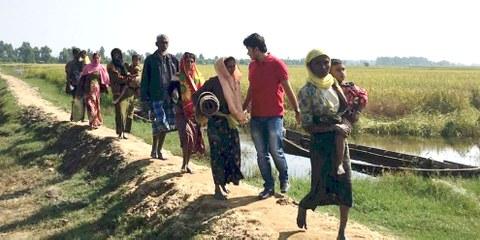 Flüchtlinge in der Provinz Rakhine