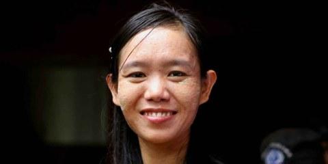 Phyoe Phyoe Aung vor einer gerichtlichen Anhörung. © Private