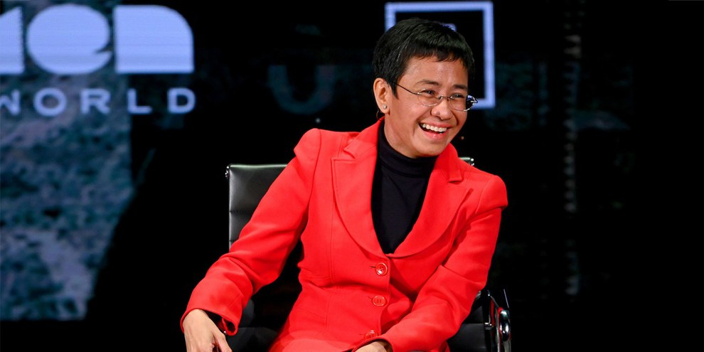 Maria Ressa am 10. «Women in the World Summit» New York, April 2019 © Mike Coppola/Getty Images