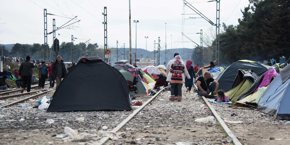 Flüchtlinge in Idomeni, 8. März 2016 © Amnesty International