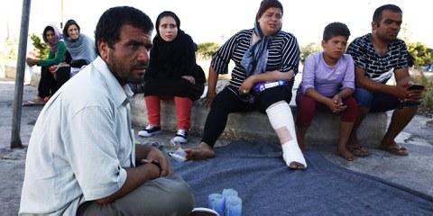 Polizei und Justizbehörden müssen dafür sorgen, dass die Hassverbrechen gegen Flüchtlinge aufhören. © Giorgos Moutafis/Amnesty International