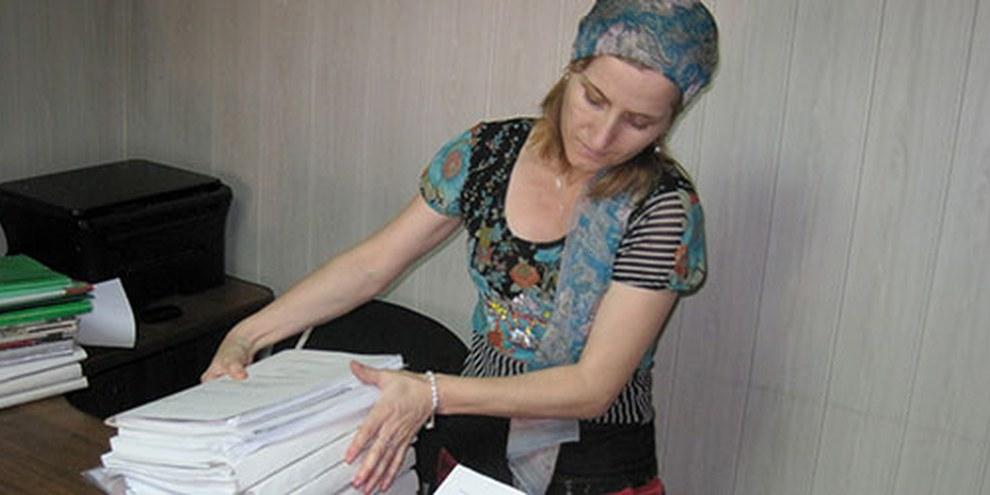 Die dagestanische Anwältin Sapiyat Magomedova wurde 2010 von der Polizei geschlagen, als sie einen Klienten im Gefängnis besuchen wollte. © Privat