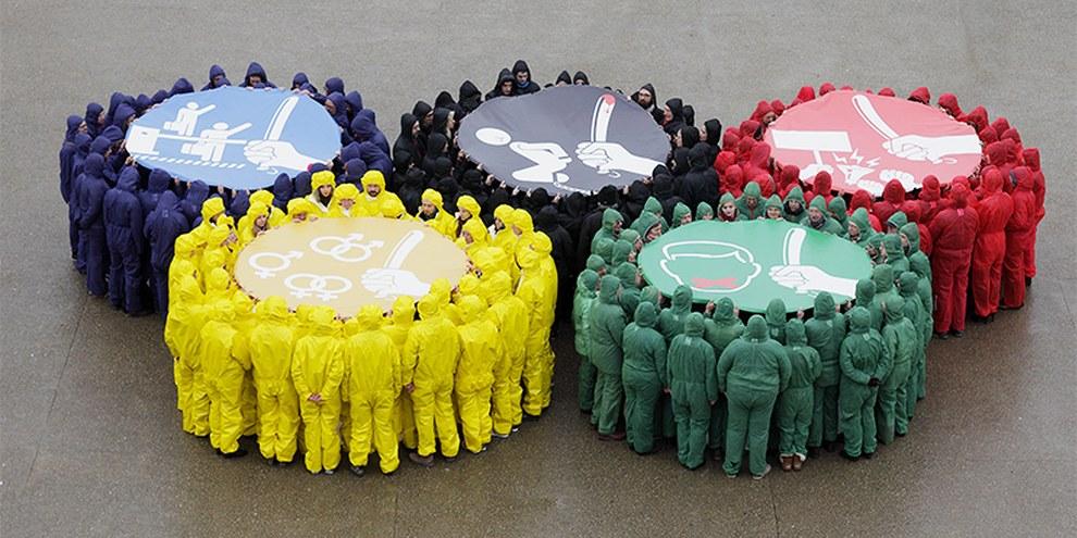 Sotschi-Aktion in Frankreich © l'oeilduplafond