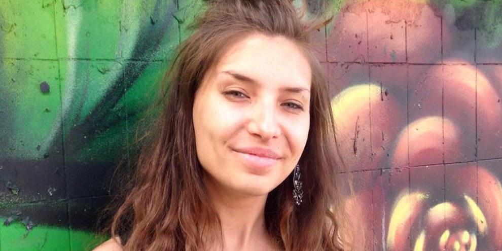 Die Aktivistin Evdokia Romanova wurde am 18.10.2017 wegen Verstoss gegen das Propagandagesetz gebüsst. © Privat