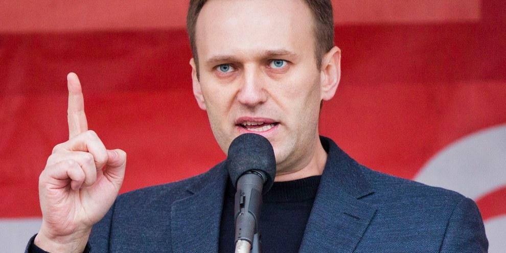 Alexei Nawalny wurde am 27. März zu 15 Tagen Gefängnis verurteilt, weil er die Proteste organisiert habe. © Evgeny Feldman / Novaya Gazeta / Wikicommons