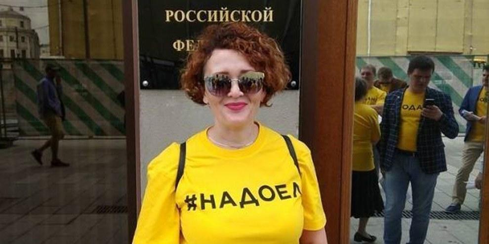 Anastasia Shevchenko von  Open Russia riskiert bis sechs Jahre Gefägnis. © Novaya Gazeta