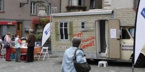 Wohnmobil im Einsatz in Chur © AI