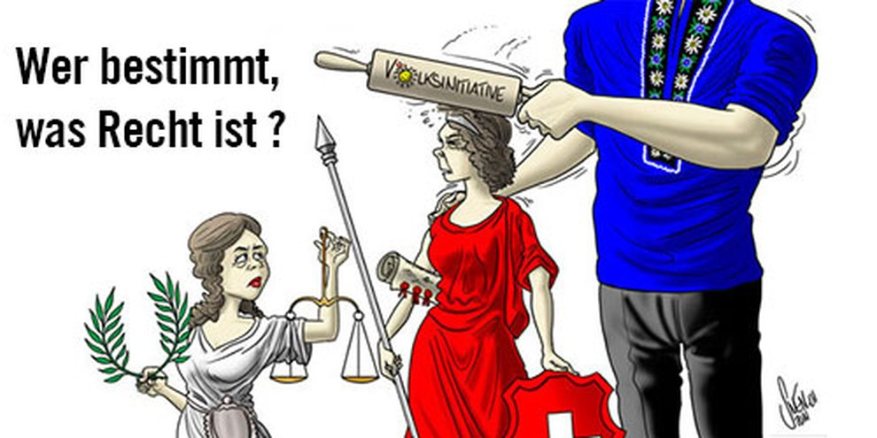 Das Landesrecht solle über dem Völkerrecht stehen, meint die SVP.