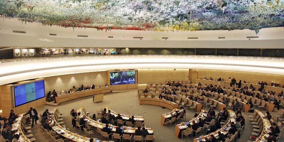 Der Uno-Menschenrechtsrat wird die Schweiz im November wieder überprüfen. © Uno
