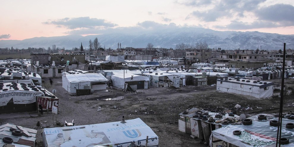 Syrische Flüchtlinge im Bekaa Tal, Libanon © Ali/Syrian Eyes