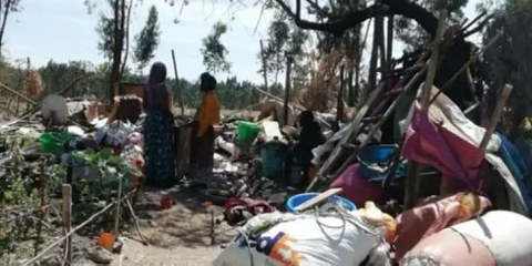 Zwangsvertriebene in Bole, Addis Ababa, Äthiopien. April 2020 © privat