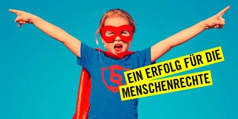 Schweizerinnen und Schweizer verteidigen die Menschenrechte