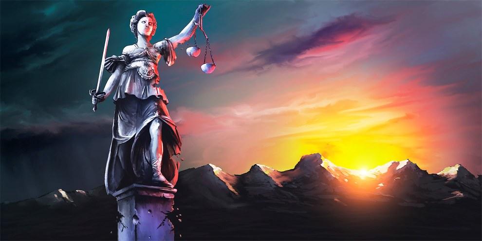 Licht am Horizont für Justitia! Jetzt gilt es, weitere Attacken auf den Rechtsstaat zu verhindern.  © www.clarity-design.ch
