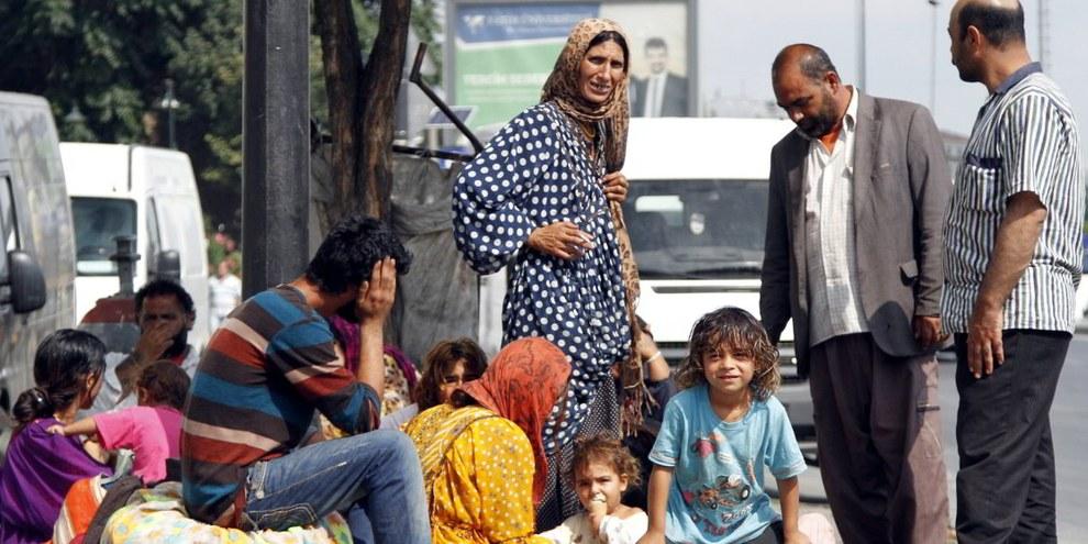 Syrischen Flüchtlingen darf nicht die Tür vor der Nase zugeschlagen werden. © EPA