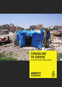 Cover Bericht: Struggling to survive: Refugees from Syria in Turkey