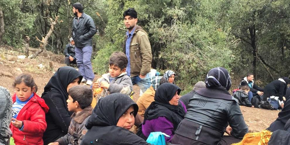 Bab al-Salam an der syrisch-türkischen Grenze, 11. Februar 2016 © Amnesty International