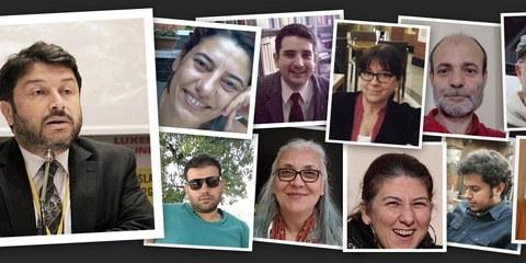 Taner Kiliç und die anderen verhafteten MenschenrechtsverteidigerInnen © Amnesty International